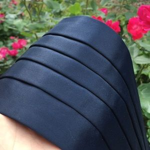 Dark navy blue satin pleated cummerbund NEW L